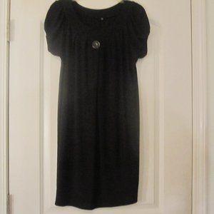 Tiana B. Black Shift Mini-Dress Size Medium.